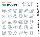 set of vector line icons of... | Shutterstock .eps vector #1282469320