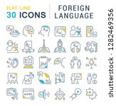 set of vector line icons of... | Shutterstock .eps vector #1282469356