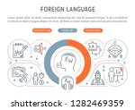 linear banner of the foreign... | Shutterstock .eps vector #1282469359