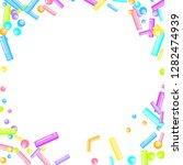 sprinkles grainy. sweet... | Shutterstock .eps vector #1282474939