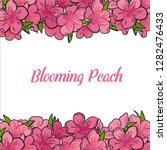 dlooming peach. vector...   Shutterstock .eps vector #1282476433