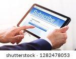 close up of a businessman's... | Shutterstock . vector #1282478053