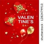 valentines day banner....   Shutterstock .eps vector #1282479913