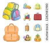 vector design of  and backpack... | Shutterstock .eps vector #1282481980