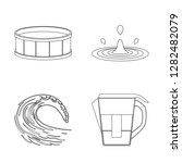 vector illustration of water... | Shutterstock .eps vector #1282482079