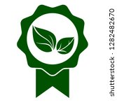 green leaf seal icon. official... | Shutterstock .eps vector #1282482670