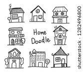 home doodle concept  vector... | Shutterstock .eps vector #1282496800