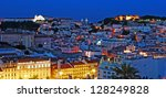 stunning night shoot of lisbon... | Shutterstock . vector #128249828