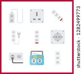 9 switch icon. vector... | Shutterstock .eps vector #1282499773