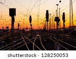 railway tracks at a major train ... | Shutterstock . vector #128250053
