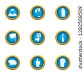 threat icons set. flat set of 9 ... | Shutterstock . vector #1282508509