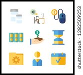 9 management icon. vector... | Shutterstock .eps vector #1282509253