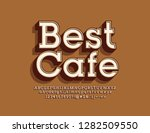 vector bright emblem best cafe. ... | Shutterstock .eps vector #1282509550