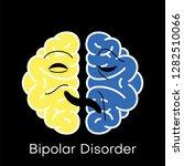 brain icon for bipolar disorder ... | Shutterstock .eps vector #1282510066