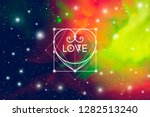 romantic space valentine's day... | Shutterstock . vector #1282513240