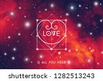 romantic space valentine's day... | Shutterstock . vector #1282513243