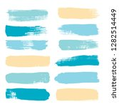 brush strokes set backgrounds.... | Shutterstock .eps vector #1282514449