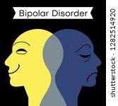 mood disorder. split... | Shutterstock .eps vector #1282514920