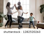 happy african american family... | Shutterstock . vector #1282520263