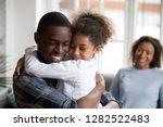 cute little black girl... | Shutterstock . vector #1282522483