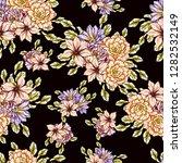 flower print. elegance seamless ... | Shutterstock . vector #1282532149
