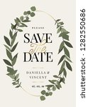 save the date template with...   Shutterstock .eps vector #1282550686