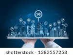 smart city  5g  internet and... | Shutterstock . vector #1282557253