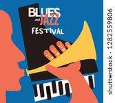 jazz music festival poster with ... | Shutterstock .eps vector #1282559806