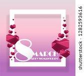 trendy design template .pink... | Shutterstock .eps vector #1282593616