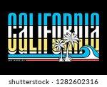california vector illustration  ... | Shutterstock .eps vector #1282602316