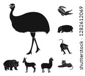 different animals black icons... | Shutterstock . vector #1282612069