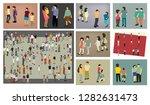 people walking concept    Shutterstock .eps vector #1282631473