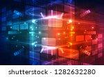 vector future digital speed... | Shutterstock .eps vector #1282632280