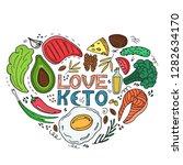 love keto   hand drawn... | Shutterstock .eps vector #1282634170