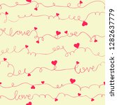valentine's day pattern with... | Shutterstock .eps vector #1282637779