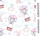 watercolor seamless pattern... | Shutterstock . vector #1282649299