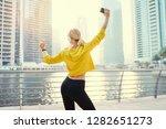 having good mood. enjoying the... | Shutterstock . vector #1282651273