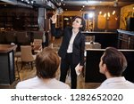 serious attractive professional ... | Shutterstock . vector #1282652020