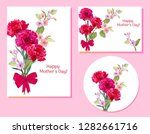 set of templates for mother's... | Shutterstock .eps vector #1282661716
