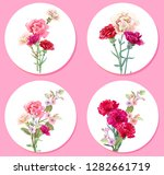 set bouquets  round cards for... | Shutterstock .eps vector #1282661719
