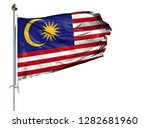 national flag of malasia on a... | Shutterstock . vector #1282681960