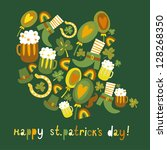 cute colorful st.patrick's day... | Shutterstock .eps vector #128268350