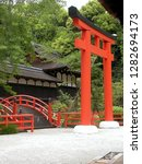 Stock photo a toori inside shinto shrine in japan 1282694173