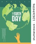 the earth day poster design.... | Shutterstock .eps vector #1282694596