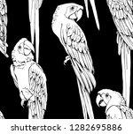 seamless pattern. graceful wild ... | Shutterstock .eps vector #1282695886