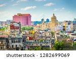 havana  cuba downtown skyline.  | Shutterstock . vector #1282699069