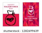 happy valentine's day poster... | Shutterstock .eps vector #1282699639