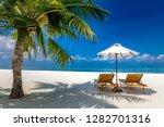 luxury beach resort  beach... | Shutterstock . vector #1282701316