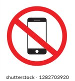 no phone sign. no talking and... | Shutterstock .eps vector #1282703920