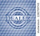 dealer blue emblem or badge... | Shutterstock .eps vector #1282709743